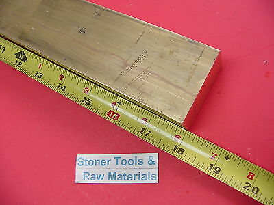 "1"" x 2"" C360 BRASS FLAT BAR 18"" long Solid 1.00"" Plate New Mill Stock H02"