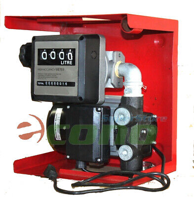16GPH 110v Electric Oil Fuel Diesel Gas Transfer Pump W/ Mechanical Meter Gallon