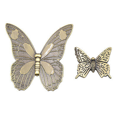 1 Pc Vintage Butterfly Knob Pull Handle For Cabinet Drawer Trinket Jewelry Chest