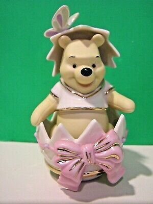 LENOX Disney HAPPY EASTER POOH egg sculpture NEW in BOX with COA Winnie the