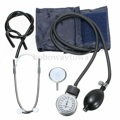 Aneroid Sphygmomanometer Arm Blood Pressure Monitor Stethoscope Cuff Dial AU NEW