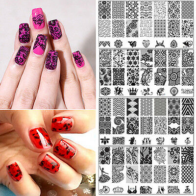 Fantastic Diy Nail Art Image Stamp Stamping Plates Manicure Template Tool