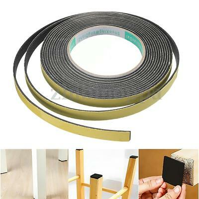 5m x 2mm x 10mm Safety Black Single Sided Adhesive Foam Cushion Tape Closed Cell