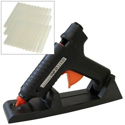 15-80W Cordless Electric Heated Hot Melt Glue Trigger Gun + 102 Adhesive Sticks