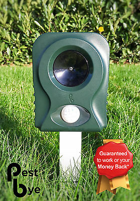 Pestbye Ultrasonic Battery Cat Fox Pest Repellent Scarer Deterrent Repeller V2