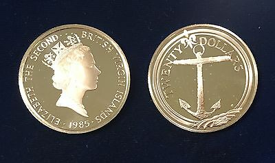 British Virgin Islands 1985 $20 Silver 3 Piece Lot Gem BU