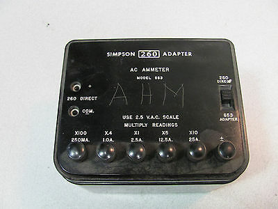Simpson 260 Adapter AC Ammeter model 653