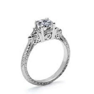 Tacori HT2227.6 diamond engagement ring .33tcw trillions Platinum sz 61/2 NWT