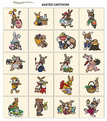 EASTER CARTOONS. CD or USB machine embroidery designs files most format holidays
