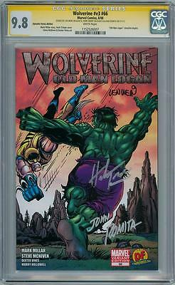WOLVERINE #66 DYNAMIC FORCES VARIANT CGC 9.8 SIGNATURE SERIES SIGNED x3 ROMITA
