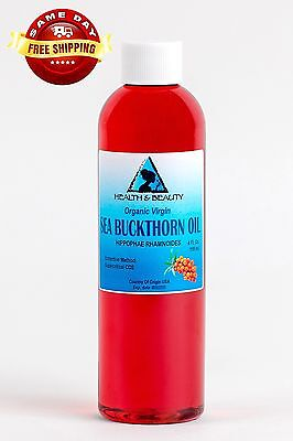 Sea Buckthorn Oil Unrefined Organic Extra Virgin Co2 Extracted Premium Pure 4 Oz