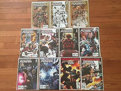 Marvel Comics ULTIMATE POWER #1-9 Full Run; Sketch Variant #1; Director's Cut #1