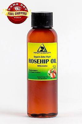 Rosehip Seed Oil Unrefined Organic Extra Virgin Cold Pressed Premium Pure 2 Oz