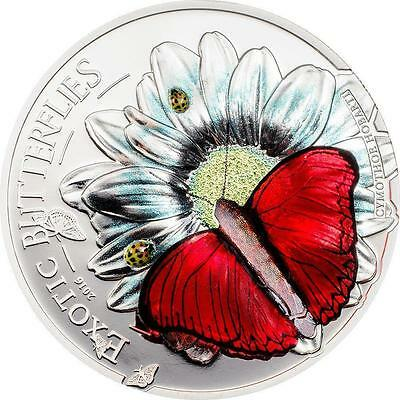 Tanzania 2016 1000 Schillings Exotic Butterflies 3D Proof Silver Coin LIMITED