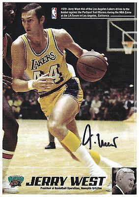 Basketball-Jerry West-#44 Los Angeles Lakers- Signed Photograph-Aftal/ Uacc Rd