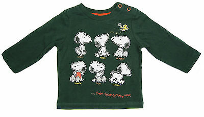 Baby Boys Long Sleeved Top Snoopy Newborn up to 12-18 Months