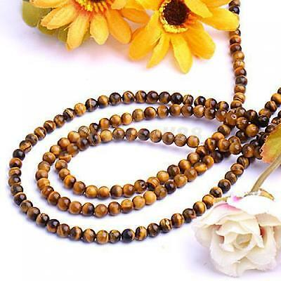 """6mm African Roar Tiger's Eye Round Loose Beads 15"""""""