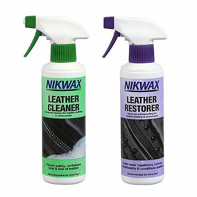 Nikwax Leather Cleaner And Restorer Twin Pack 300ml