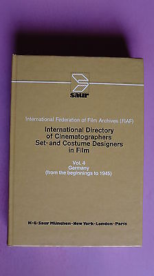 (R6_4_03) International Directory of Cinematographers, Set and Costume Designers