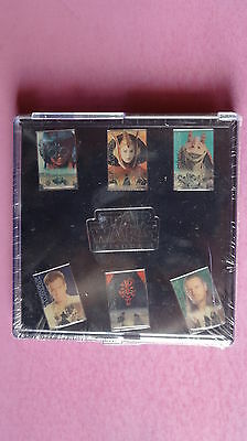 (M5) STAR WARS Episode I - Pin-Set  7 Ansteckpins im BOX - OVP