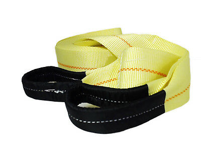 """ABN Tow Recovery Winch Strap with Reinforced Loops 3"""" x 30' 20,000 LB Capacity"""
