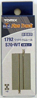 Tomix 1792 Wide Tram 70mm Straight Track S70-WT (4 Pieces) (N scale)