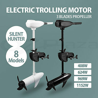 3 Blade Electric Trolling Motor Inflatable Boat Fishing Marine Outboard Engine