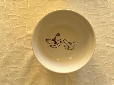 """Happy Cats  bowl """"all my love"""" Made in Japan Kittens Plate"""