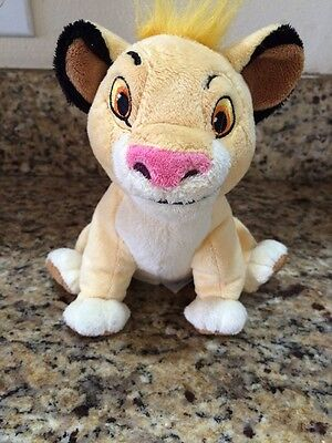 Disney Store Plush Simba The Lion King Soft Stuffed Animal Toy.