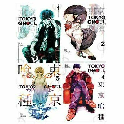 Tokyo Ghoul Volume 1-4 Comics & Graphic Novel Sui Ishida 4 Books Collection Set