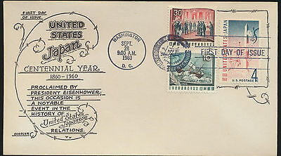 1158 USA - JAPAN Centennial Year Combination FDC Boerger Cachet Unaddr   LOT 930