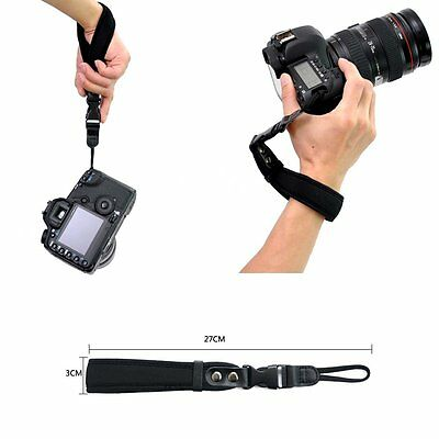 Hand Wrist Lanyard Strap PU Leather For Canon Nikon Sony Pentax Olympus Camera