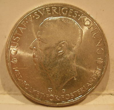 Sweden 1935 Silver 5 Kronor Choice BU 500th Anniversary of Riksdag