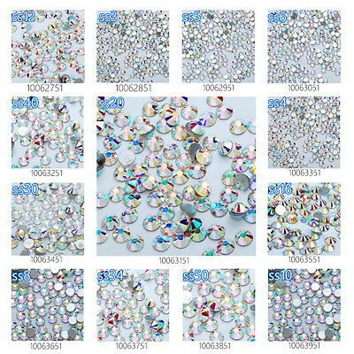 Clear AB Crystal Rhinestones Non Hot Fix Crystal Craft for Nail Art Wholesale