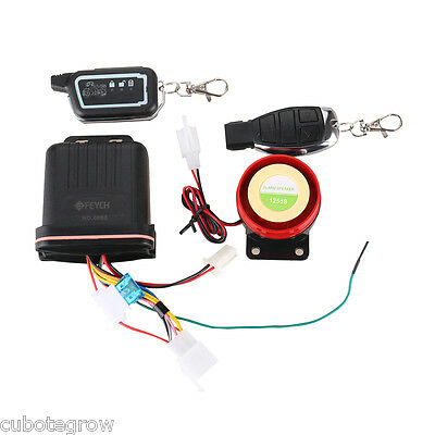 Remote Control 2 Way Engine Start Motorcycle Anti-theft Security Alarm System