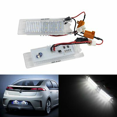 Opel Vauxhall 24 SMD LED Licence Number Plate Light Insignia Astra H J Vectra C