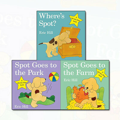 Eric Hill Collection Spot - Original Lift The Flap 3 Books Set Where's Spot? NEW