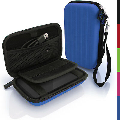 Blue Hard Case Cover Pouch for Portable External Hard Drive 160 x 93.5 x 21.5mm