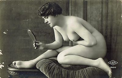 French Risque Nude Lady Postcard - NUDO NU EROTIQUE EROTIC - Rif.156