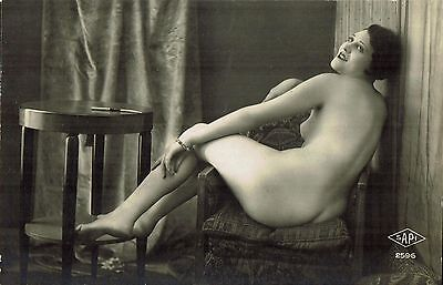 French Risque Nude Lady Postcard - NUDO NU EROTIQUE EROTIC - Rif.158