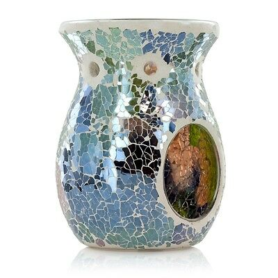 Ashleigh & Burwood Classic Glass Mosaic Lunar Eclipse Fragrance Oil Burner Gift