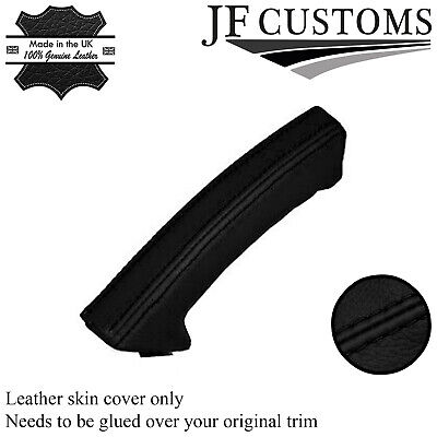 black stitch FITS SAAB 93 9-3 03-11 LEATHER HANDBRAKE HANDLE COVER ONLY