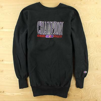 vtg champion reverse weave usa made sweatshirt XXL 80's 90's black embroidered