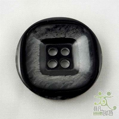 10 pcs round black square pattern sewing buttons lot 4 holes 25mm size 40