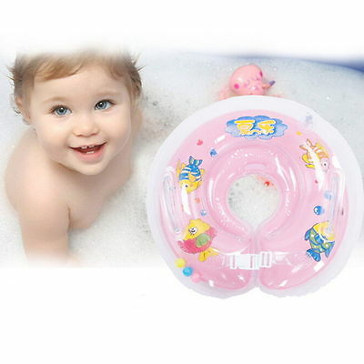 Baby Aids Infant Swimming Neck Float Inflatable Tube Ring Safety New Neck GH