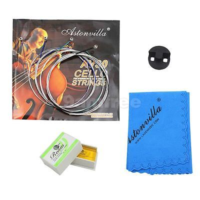 4pcs Cello Accessories KIT Rosin Mute Strings Cloth For Cello Replacements