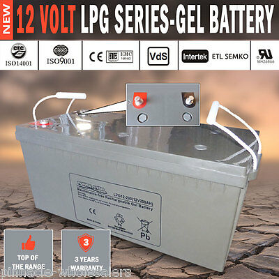 NEW Power Star 12V 200AH GEL Deep Cycle Battery Caravan 4WD Boat Solar System