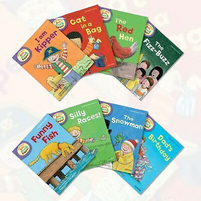 Read With Biff Chip & Kipper Level 2 Collection Oxford Reading Tree 8 Books Set