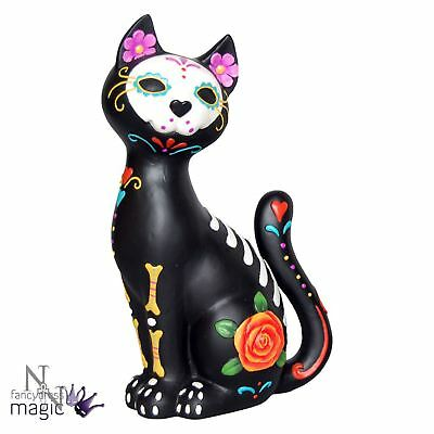 Nemesis Now Day Of The Dead Sugar Cat Kitten Kitty Figurine Decoration Home Gift