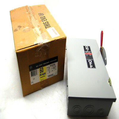 NEW General Electric GE TGN3322 Safety Switch 60A Disconnect 240VAC/250VDC